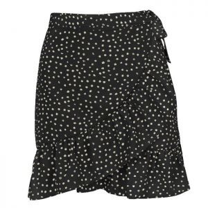 My Jewellery Dotted wrap skirt MJ00477 Zwart