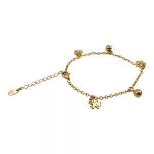 KalliKalli Schakel Armband 2558 Goud
