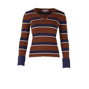 saint tropez  T2507 striped ribbed metall T2507 striped ribbed metall