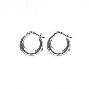 Karma Hoops Plain 18 mm Silver