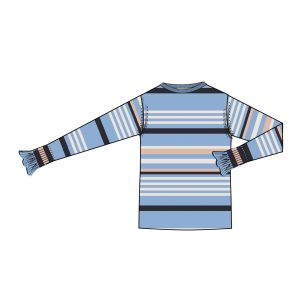 saint tropez  Striped Sweater T2517 blauw