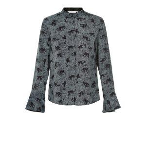 Numph Isolde shirt 7119016 blauw