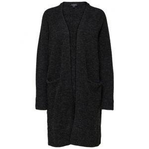 Selected femme SLFLanna LS Knit Cardigan 16068585 donkergrijs_1