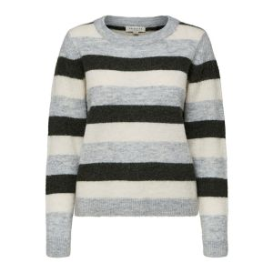 Selected femme SLFSia LS knit O Neck 16069917 Rosin (donkergroen'_1