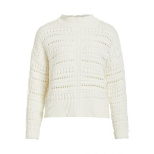 Object OBJGladys LS knit Pullover 23030317 off white_1