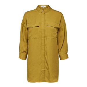 Selected femme SLFDonna 7/8 long shirt 16068767 olijfgroen_1