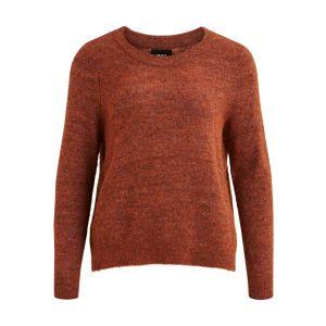 Object OBJNete LS Knit Pullover 23030568 Brown Patina