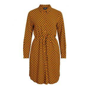 Object OBJDinah LS Bay dress 23031637 Buckthorn Brown_1