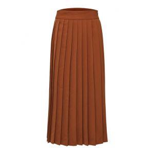 Selected femme SLFTabita HW Midi skirt 16073608 bruin_1