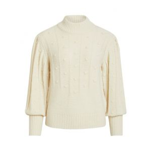 Object OBJFay LS knit pullover 23031093 off white_1