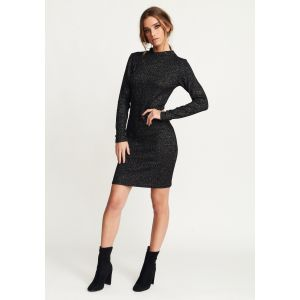 Rut&Circle Ebba knitted dress 19-05-36 Zwart_1