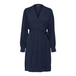Selected femme SLFMilja-Alva LS Wrap dress 16072808 Dark Sapphire_1