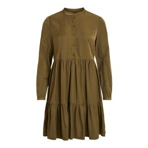 Object OBJJen LS shirt dress 23032712 groen_1