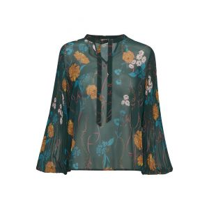 saint tropez  Woven blouse plisse 30501418 groen_1