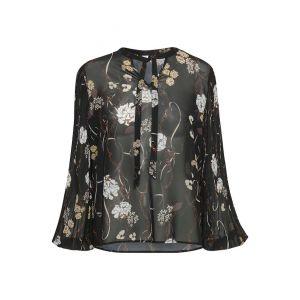 saint tropez  Woven blouse plisse 30501418 Zwart_1