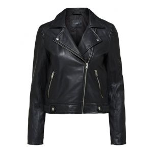 Selected femme SLFKatie leather jacket 16071712 Zwart_1