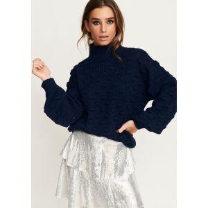 Rut&Circle Liza Jacuard knit 19-05-26 blauw_1