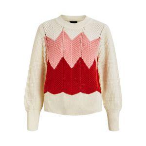 Object OBJMiriam LS knit pullover 23031896 Multi_1