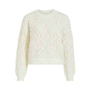 Object OBJSophia LS knit pullover 23031542 off white_1