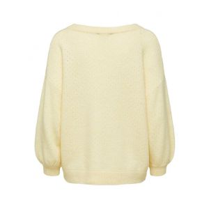 Selected femme SLFMille 3/4 Knit Wide O Neck 16072515 Almond Oil_1