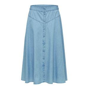 Selected femme SLFJoy HW Midi skirt 16072080 blauw_1