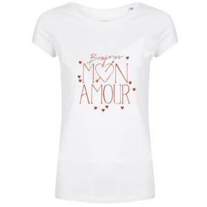 Hip voor de Heb Mon Amour Tee Mon Amour Tee wit