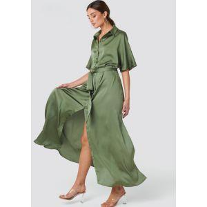 Rut&Circle Tilde long dress 20-01-46 groen_1