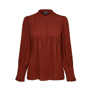 Selected femme SLFLivia LS Blouse 16074328 Smoked Paprika_1