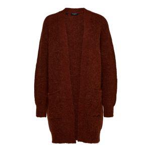 Selected femme SLFLulu LS knit cardigan 16074480 Smoked Paprika_1