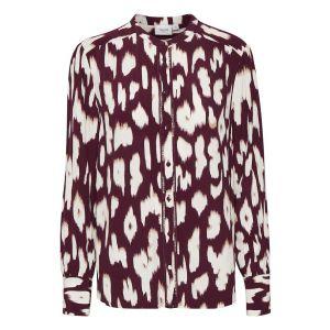 saint tropez  CristySZ LS blouse  30510517 Wine_1