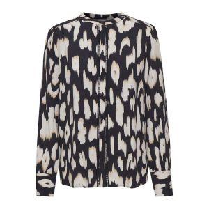 saint tropez  CristySZ LS blouse  30510517 donkerblauw_1