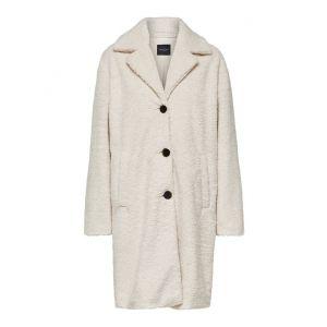 Selected femme SLFNanna Teddy Coat 16068218 Sandshell_1