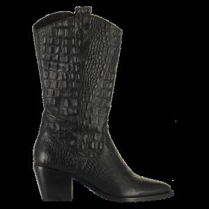 Juul&Belle Boot Cowboy Croco 6462 Zwart_1