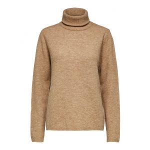 Selected femme SLFStacey LS knit Rollneck 16075646 Tigers Eye_1