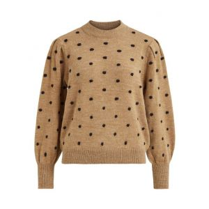 Object OBJLaurie LS knit pullover 23033975 Chipmunk_1