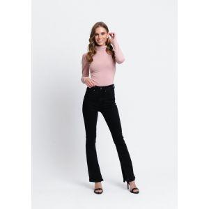 Rut&Circle Nora Wide Split Jeans 20-03-88 Zwart_1