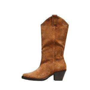 Selected femme SLFLouise Suede Cowboy Boot 16077903 Cognac_1