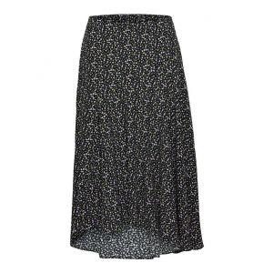 Selected femme SLFRiyanka MW Midi skirt 16075320 Zwart_1