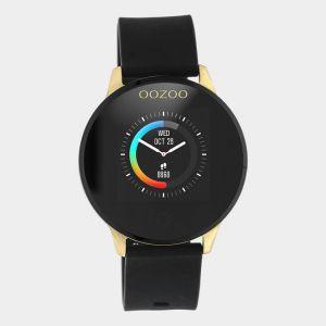 Oozoo Smartwatch Rubberenband Q00120 Zwart/Goud_1