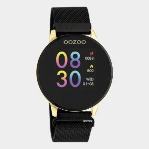 Oozoo Smartwatch Meshband Q00122 Zwart/Goud_1