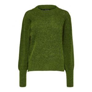 Selected femme SLFLinna LS knit 16075570 groen_1