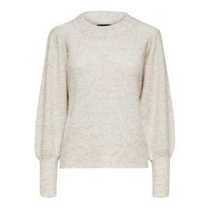 Selected femme SLFLinna LS knit 16075570 Sandshell_1