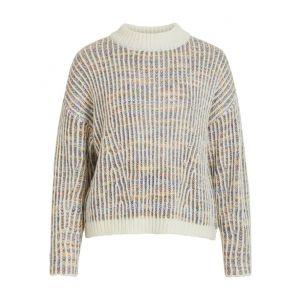 Object OBJCita LS knit pullover 23034069 Cloud Dancer_1