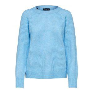 Selected femme SLFStar LS knit 16076477 blauw_1