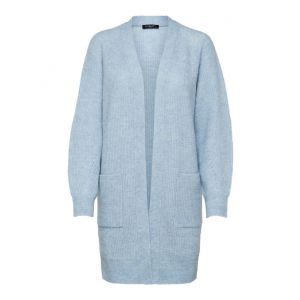 Selected femme SLFLulu LS knit Cardigan  16074480 Cashmere blue_1