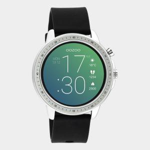 Oozoo Smartwatch Rubberenband Q00300 Zilver/Zwart_1
