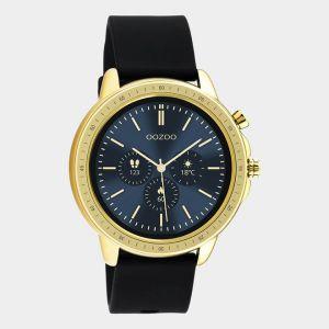 Oozoo Smartwatch Rubberenband Q00301 Goud/Zwart_1
