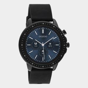 Oozoo Smartwatch Rubberenband Q00304 Zwart/Zwart_1