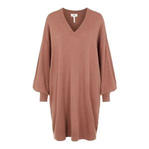 Object OBJLisette LS Knit Dress 23035016 Cognac_1