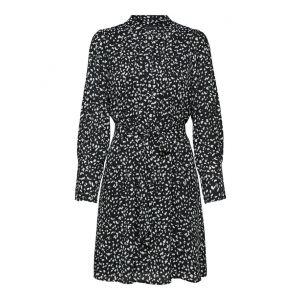 Selected femme SLFLivia LS short Dress 16077194 Zwart_1